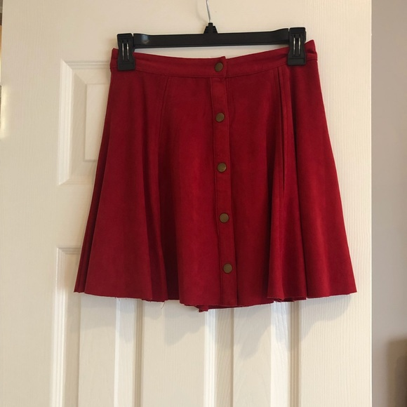 Design Lab Lord & Taylor Dresses & Skirts - Red velour skirt